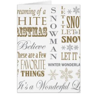 palabras modernas del navidad del vintage felicitación