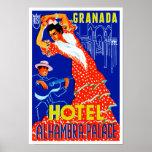 Palacio de Alhambra del hotel de Granada Póster