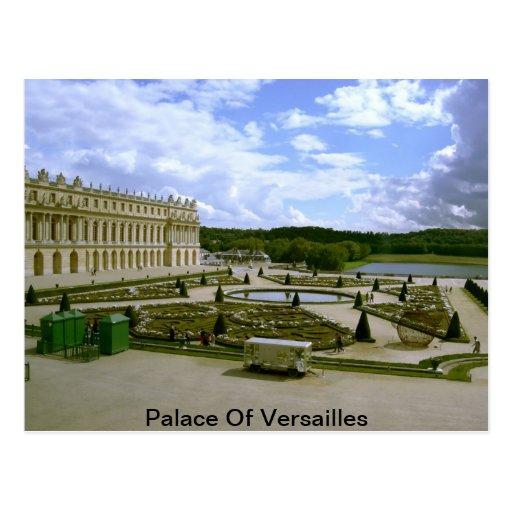 Palacio de la postal del jardín de Versalles