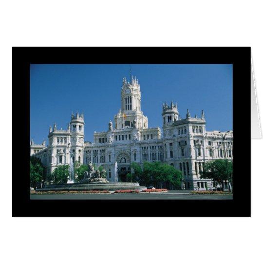 Palacio de las comunicaciones de Madrid Tarjeta De Felicitación