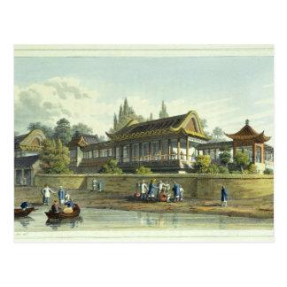 Palacio de verano del emperador, enfrente de la postal