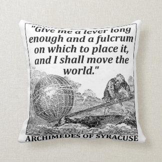 Palanca de Arquímedes Cojín Decorativo