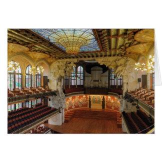 Palau de la Musica Catalana Tarjeta De Felicitación