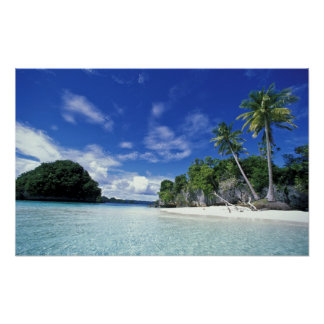 Palau, islas de la roca, isla de la luna de miel,  póster
