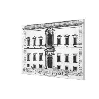 """Palazzo del Quirinale, de los """"di Roma de Palazzi"""" Impresión En Lienzo"""