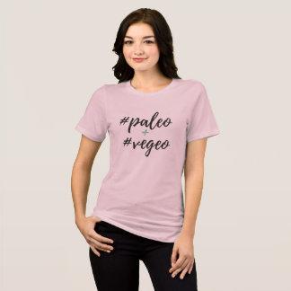 Paleo + Camiseta desgarbada de Vegeo