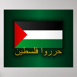 Palestina libre (árabe) póster