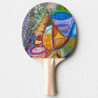 Paleta abstracta de los tenis de mesa pala de ping pong