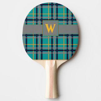 Paleta azul y anaranjada del ping-pong de la tela pala de ping pong