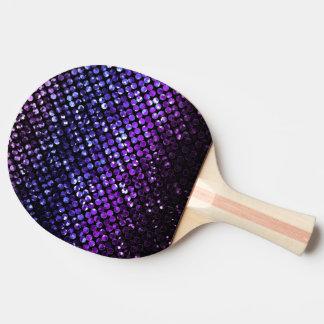 Paleta Bling cristalino púrpura Strass del Pala De Ping Pong
