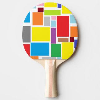 Paleta colorida del ping-pong de los bloques de la pala de ping pong