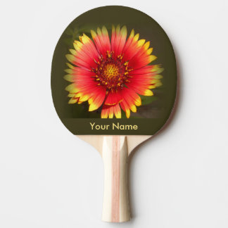 Paleta colorida del ping-pong del Wildflower Pala De Ping Pong