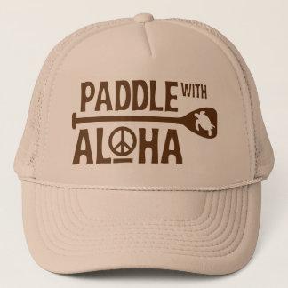 Paleta con el gorra del camionero de la hawaiana