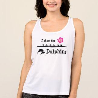 Paleta con los delfínes camiseta de tirantes