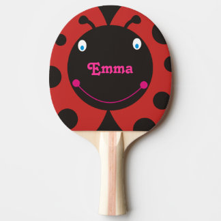 Paleta conocida personalizada mariquita preciosa pala de ping pong