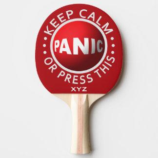 Paleta de encargo del ping-pong del botón de pánic pala de ping pong