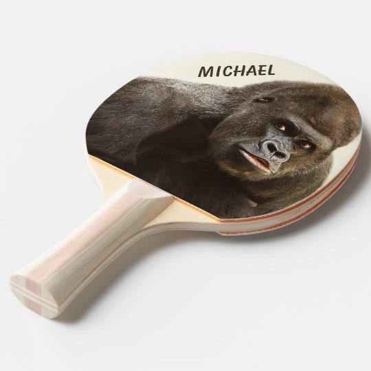 Paleta de encargo del ping-pong del monograma del pala de ping pong