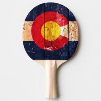 Paleta de madera rústica del ping-pong de la pala de ping pong