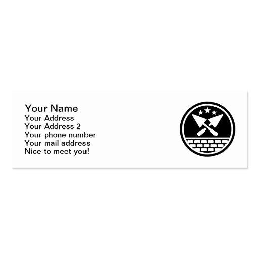 Paleta del albañil plantilla de tarjeta de negocio