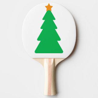 Paleta del árbol de navidad pala de ping pong