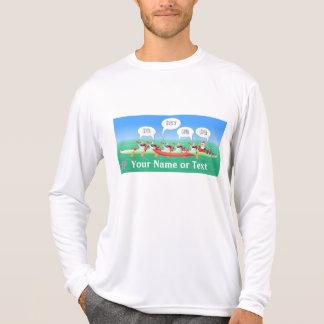 Paleta del día de fiesta del navidad camiseta