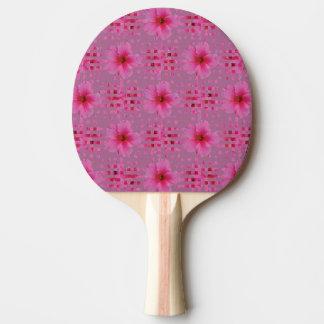 Paleta del ping-pong de la flor del hibisco pala de ping pong