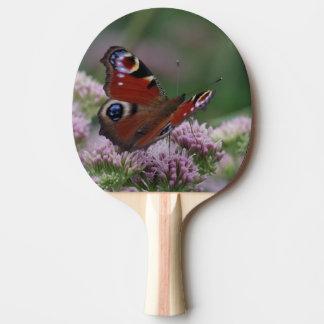 Paleta del ping-pong de la mariposa de pavo real pala de ping pong