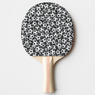 Paleta del ping-pong de los balones de fútbol pala de ping pong