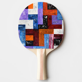 Paleta del ping-pong del arte moderno pala de ping pong
