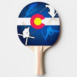 Paleta del ping-pong del esquiador del grunge de pala de ping pong