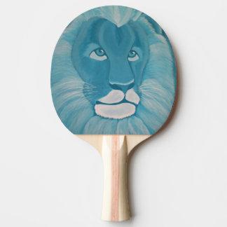 Paleta del ping-pong del león de la turquesa pala de ping pong