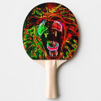 Paleta del ping-pong del león de Rasta Pala De Ping Pong
