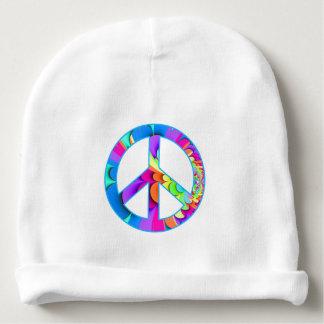 Paleta del verano del fractal del signo de la paz gorrito para bebe