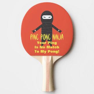 Paleta divertida del ping-pong de Ninja del Pala De Ping Pong