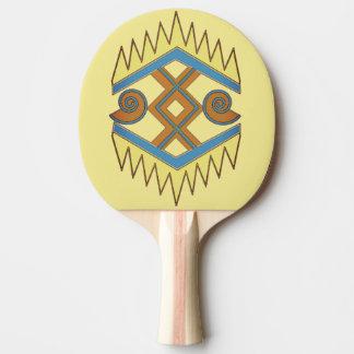 Paleta geométrica del ping-pong pala de ping pong