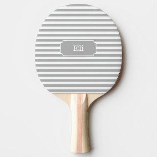 Paleta gris personalizada del ping-pong de la raya pala de ping pong