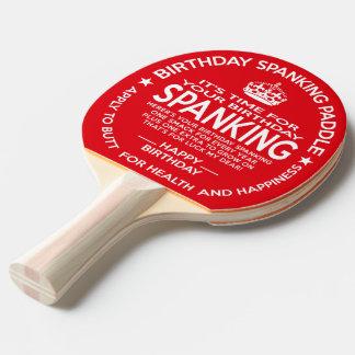 Paleta oficial del azote del cumpleaños pala de ping pong