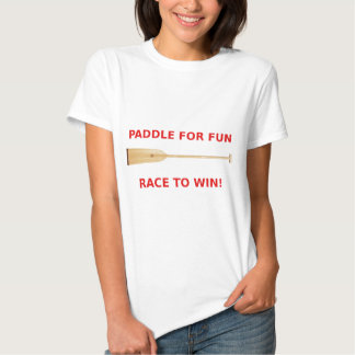Paleta para la diversión, raza para ganar el camisas