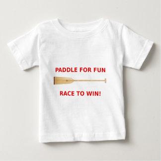 Paleta para la diversión, raza para ganar el camiseta