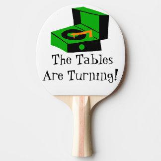 Paleta retra del ping-pong del tocadiscos pala de tenis de mesa