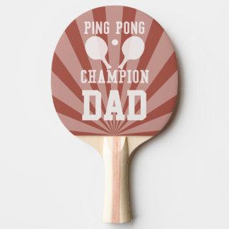 Paleta roja del campeón del ping-pong del papá pala de ping pong