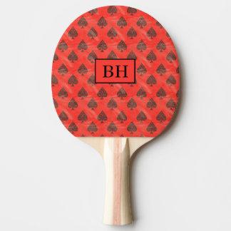 Paleta roja del ping-pong de la espada del pala de ping pong