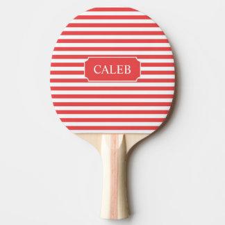 Paleta roja personalizada del ping-pong de la raya pala de ping pong
