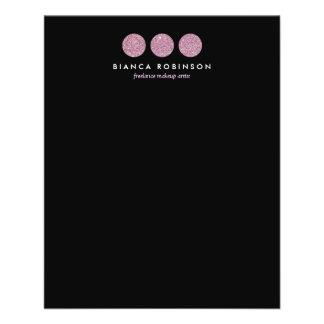 Paleta rosada del brillo para el artista de folleto 11,4 x 14,2 cm