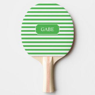 Paleta verde personalizada del ping-pong de la pala de ping pong
