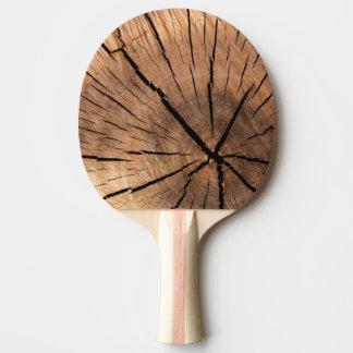Paleta vieja del árbol de los tenis de mesa pala de ping pong