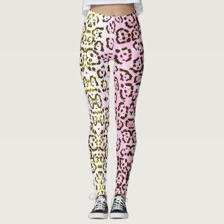 Palidezca - el estampado de animales rosado del leggings
