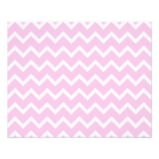 Palidezca - el modelo de zigzag rosado y blanco folleto 11,4 x 14,2 cm