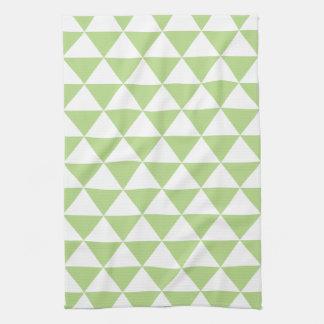 Palidezca - el modelo verde del triángulo toallas