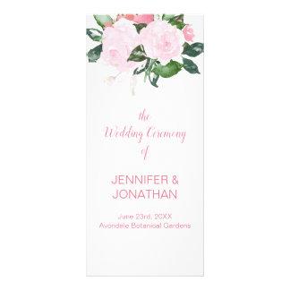 Palidezca - el programa rosado del boda del verdor